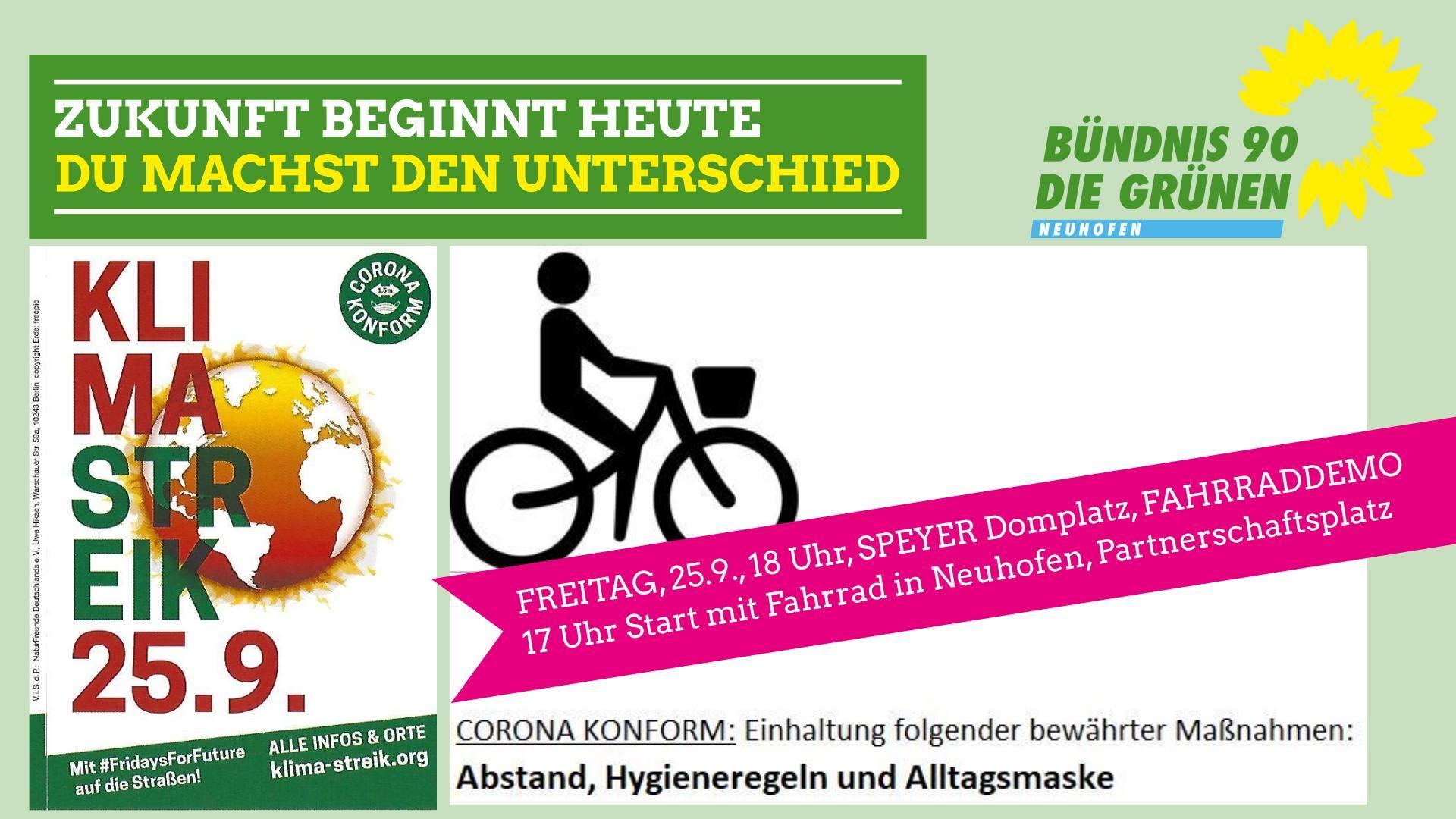 Fahrraddemo am 25.09.2020 in Speyer