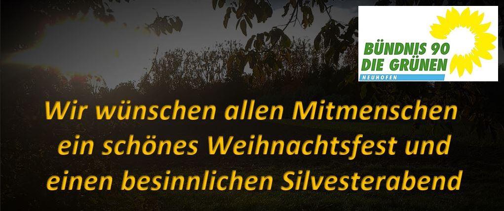 Weihnachtsgrüße des Grünen OV Neuhofen