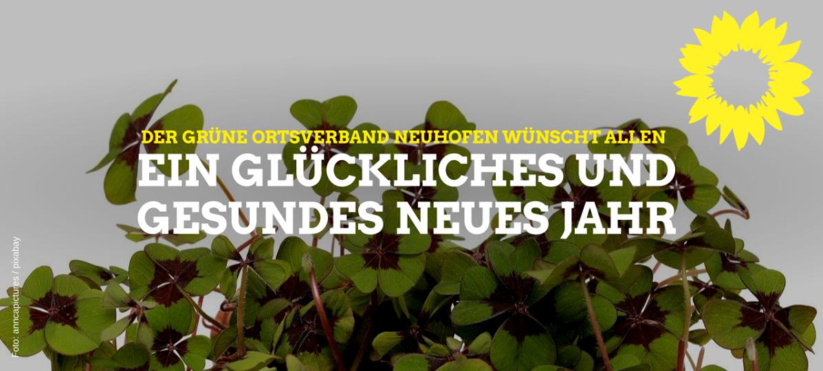 Neujahrsgrüße des Grünen OV Neuhofen