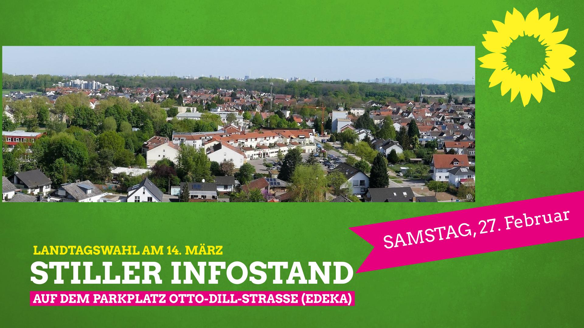 Landtagswahl 2021 – Stiller Infostand des Grünen Ortsverband Neuhofen